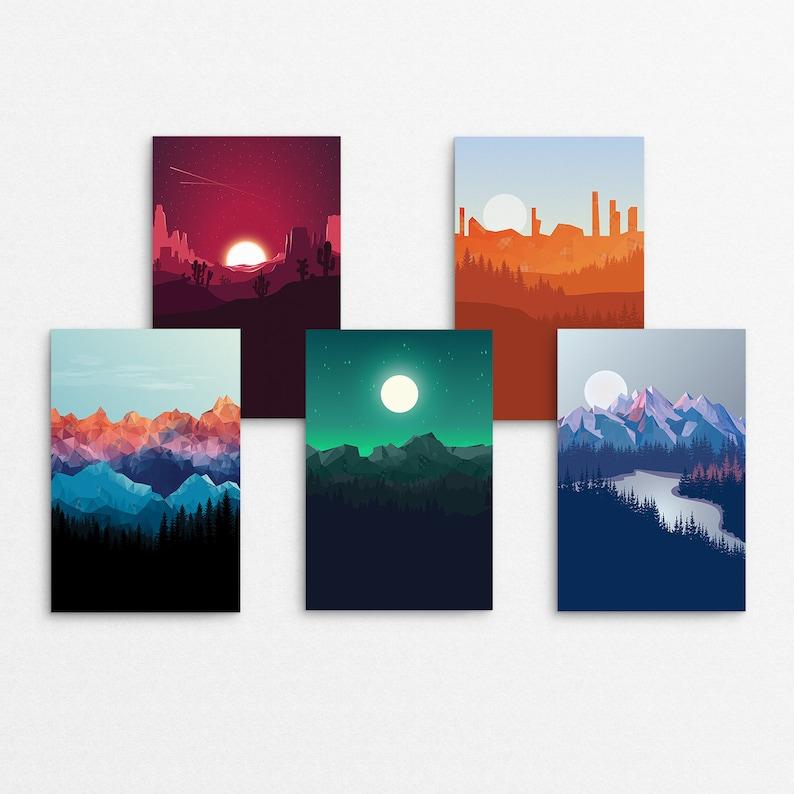 Tartan Nature Complete Series // 4x6 Print image 0