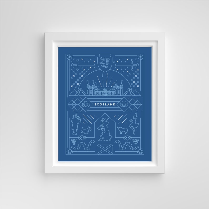 Iconographic Scotland // 8x10 Print image 0