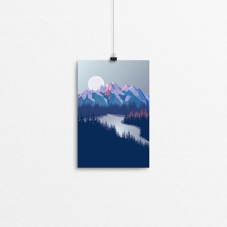 Tartan Ridges // 4x6 Print image 0