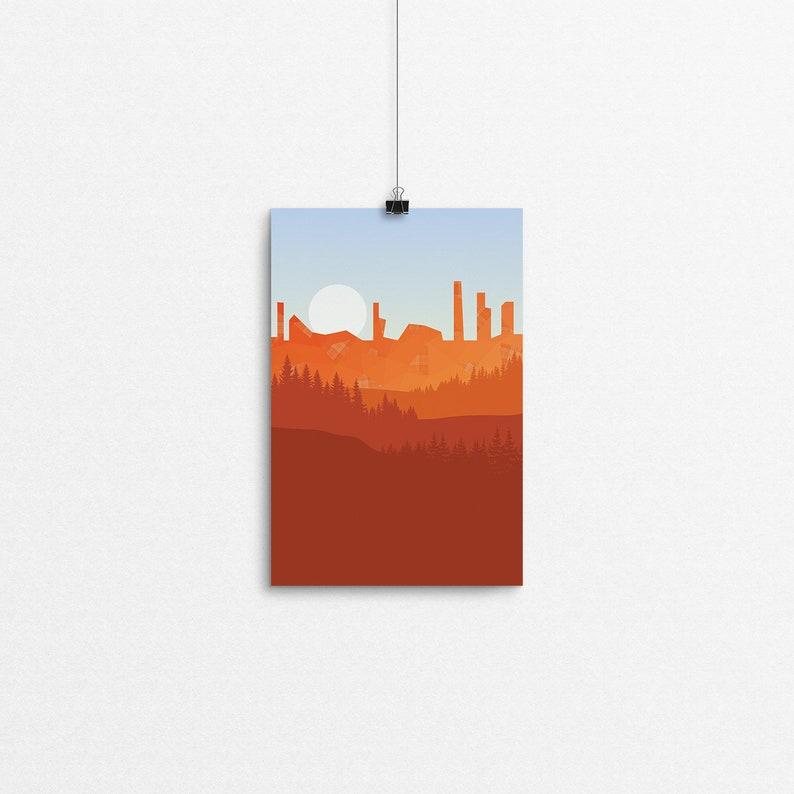 Tartan Cliffs // 4x6 Print image 0