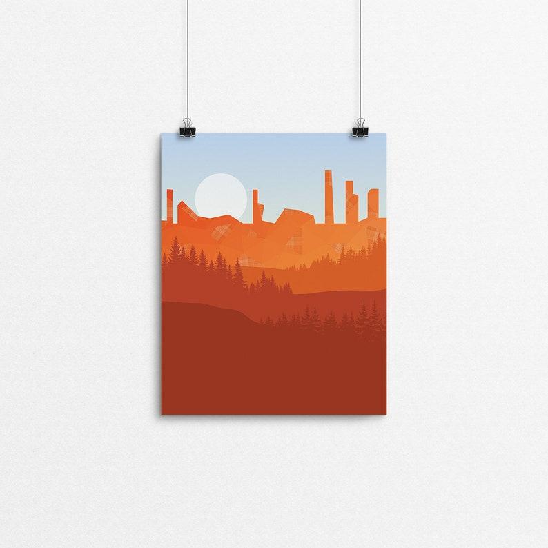 Tartan Cliffs // 8x10 Print image 0
