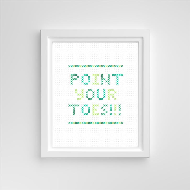 Point Your Toes // 8x10 Print // Green Purple Blue Pink image 0