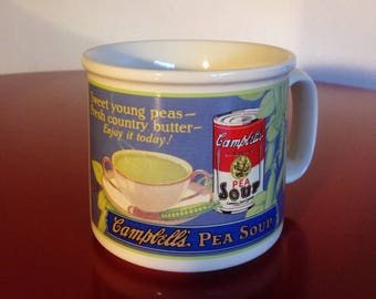 Soup Mug - Campbell's 1993 Advertising Pea Soup Mug by West Wood in Excellent Condition