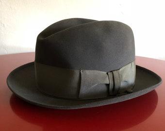 Vintage 1950 s Stetson Hat 3x Beaver Quality by Moore s California c0d4cc93c808