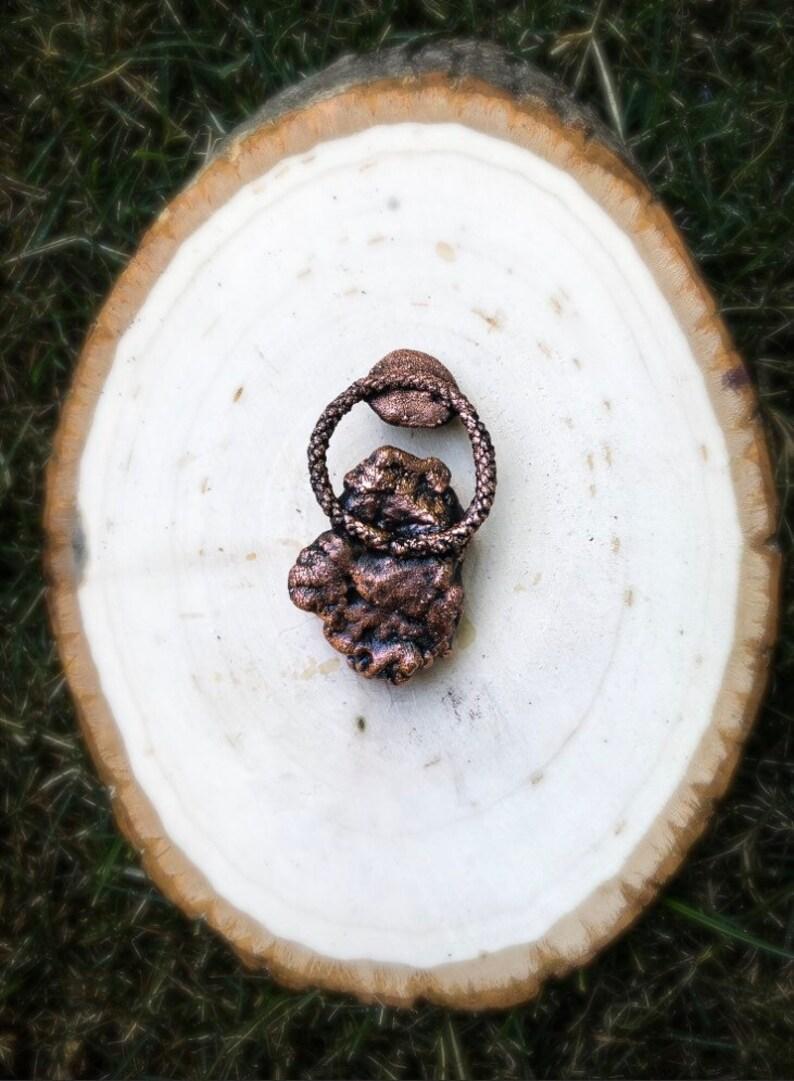 Mermaid Hawaiian Coral Garnet Electroformed Copper Necklace