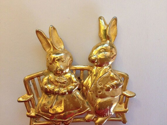 Vintage 1970s JJ (Jonette Jewelry) Gold Mr. & Mrs.