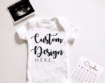 Personalized baby etsy cheap custom birth announcement onesie design a baby bodysuit personalized baby shower gift custom gender negle Choice Image