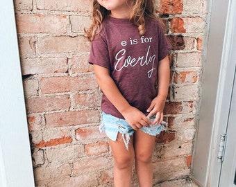 Tshirt Summer Initials Toddler Childrens PERSONALISED NAME SHORTS /& T-SHIRT