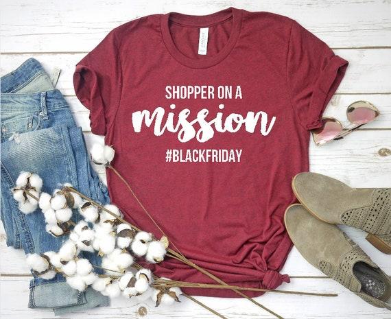 31cdb73a Black Friday Shopping Tee Mom on a Mission Professional | Etsy