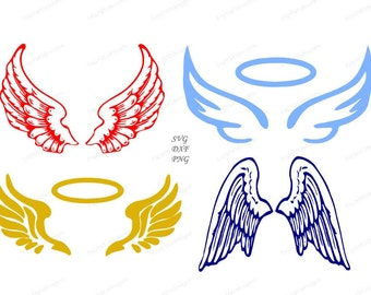 Angel wings etsy angel wings svg cutting files dxf png included design for cricut or silhouette printing file thecheapjerseys Images
