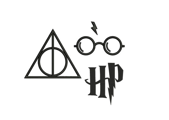 HARRY POTTER Glasses Embroidery Design 3 designs instant ...