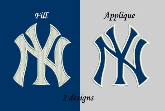 New york yankees applique design new york yankees embroidery etsy