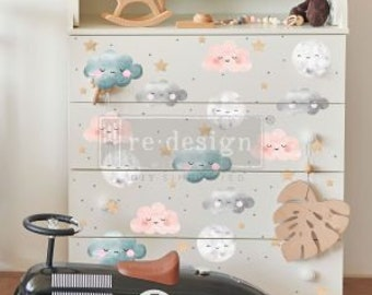 Redesign With Prima Sweet Lullaby Decor Transfer Rub On Furniture Image Transfer Decal Children/'s Room Baby Furniture Decor
