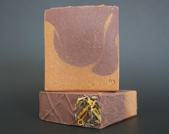 LAVENDER & ORANGE | natural herbal bar soap | Vegan without palm oil
