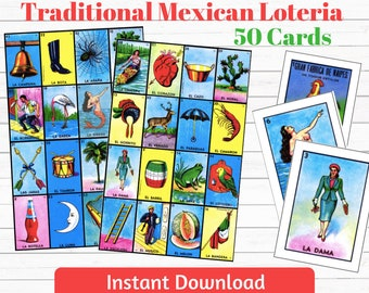 image relating to Loteria Cards Printable titled Loteria playing cards Etsy