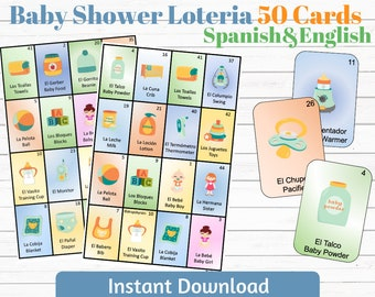 Baby Shower Loteria Etsy