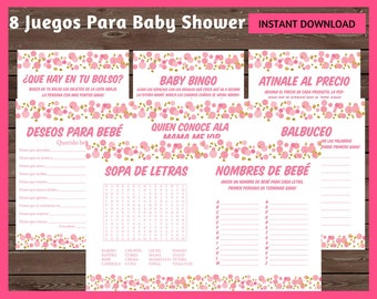 Baby Shower Loteria 80 Cards Spanish Loteria Cards Mexican Etsy