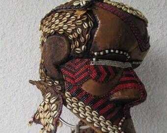 Beautiful Kuba Bwoom Royal Helmet Mask from the Congo