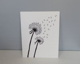 8x10 Dandelion Canvas