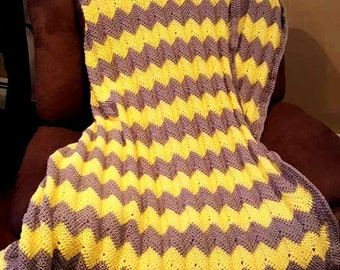 Full Size Crochet chevron blanket