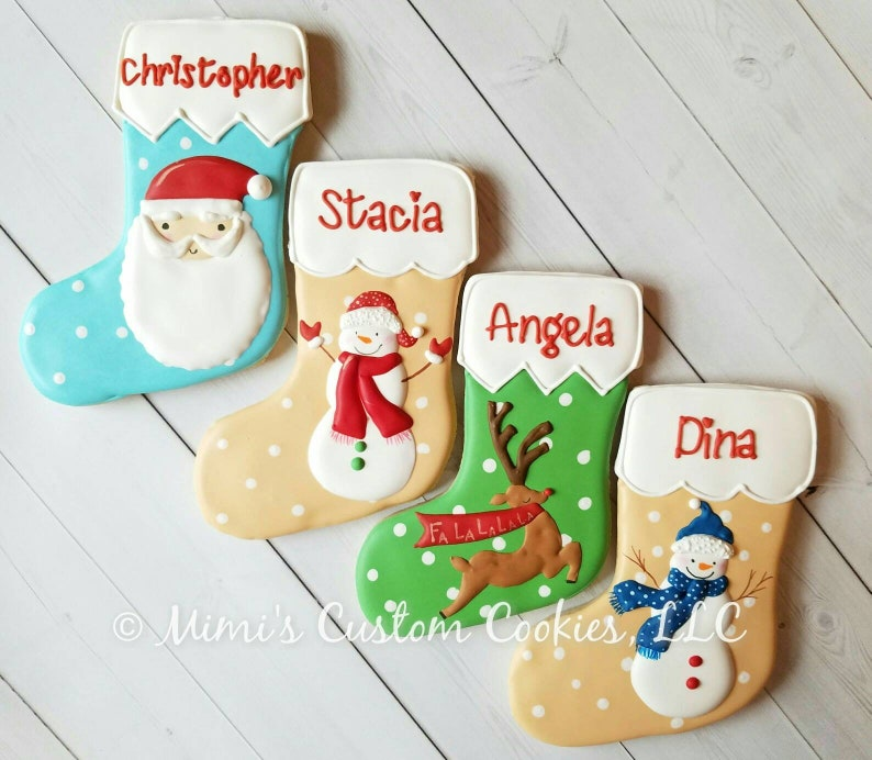 Personalized Stocking Stockings Custom Christmas Cookies This Is A Big Cookie