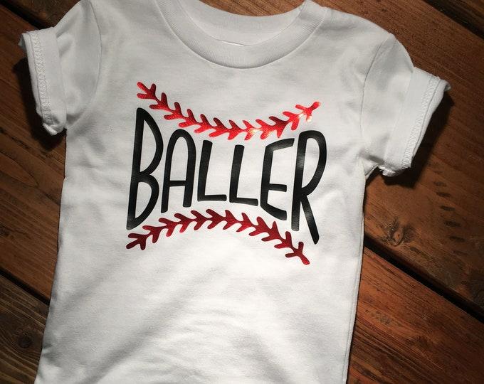 Baseball, baseball kids shirts, baller, baller tshirt, kids, boys tess, custom tshirts children, baby shirts. baby baseball, softball baby