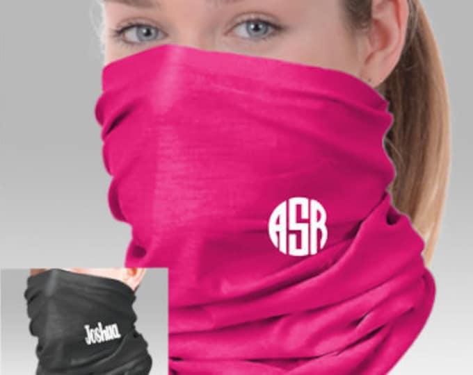 Face Covering, Face Gaiter, Gaiter mask, Face Mask, Monogram Face mask, Customized face gaiter,Neck Gaiter,Corporate Employee logo gaiter