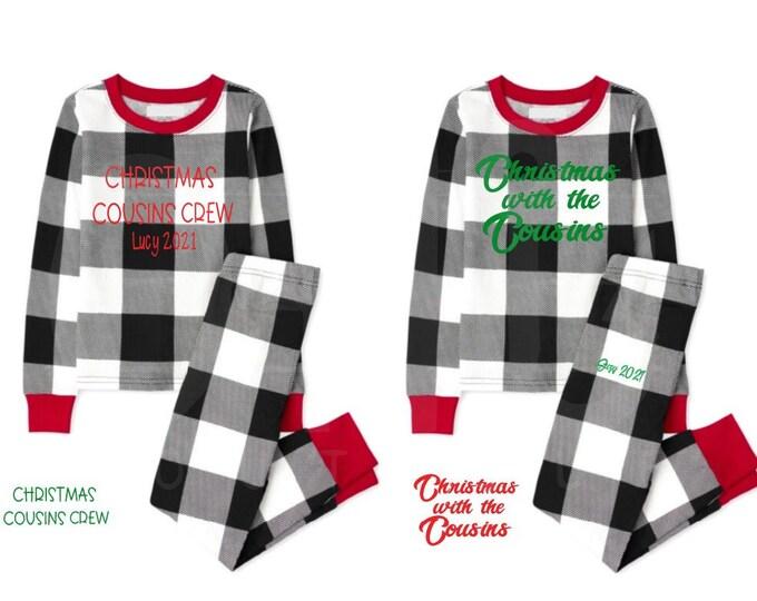 Christmas kids pj matching sets/Cousin Crew pjs/Christmas Cousin pajamas/Christmas pj sets/buffalo plaid matching pj sets/Custom pj sets