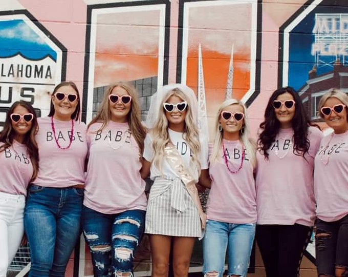 Bachelorette Party Shirts/Babe Shirt/Bride and Babe/Brides Babe/Bride Squad Wedding/Bridal Shower/Bridal Party/Bridemaids Gifts/Bride to Be