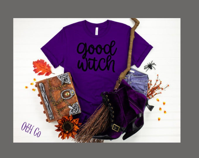 Good Witch tee/Bad Witch tshirt/Halloween tshirt/Happy Halloween shirt/Boo shirt/Witch tshirt/Hocus Pocus/Holiday Witch shirt/Purple tee