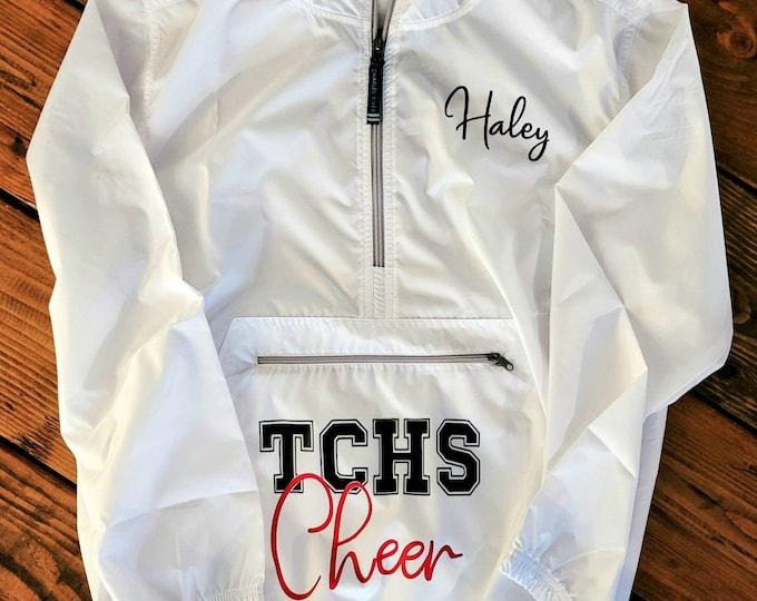 Hooded Wind Breaker/Spring wind breaker/Unisex hooded jacket/Packable rain jacket/Monogram jacket/Waterproof jacket/Custom logo jacket