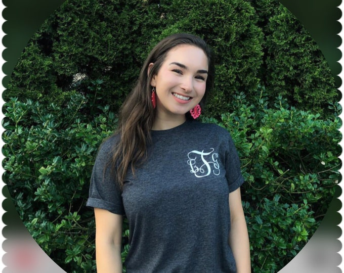 Monogram shirt/personalized shirt/monogram gift/trendy mama/gifts for mom/bridal shower gift ideas/birthday gift/gifts for her/customize it