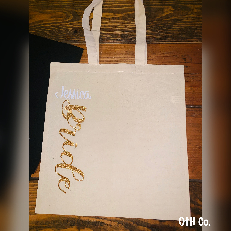 Bridesmaid Tote Bags Custom Bridal Tote Bachelorette Bag