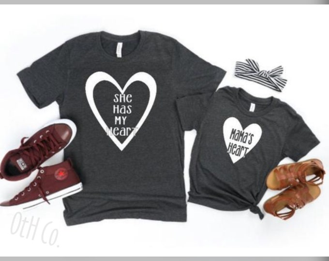 Matching shirt -mom/me shirt set - heart shirt - mommy and me shirts-mama/daughter shirts-Mothers Day gifts for mom/gifts for mom/Mama's Day