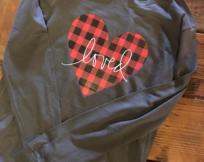 Love Valentine Shirt, Buffalo Plaid Valentines Day Shirt, Women Valentines Shirt, Valentines gifts, Heart Valentine,New for 2021,XOXO shirt