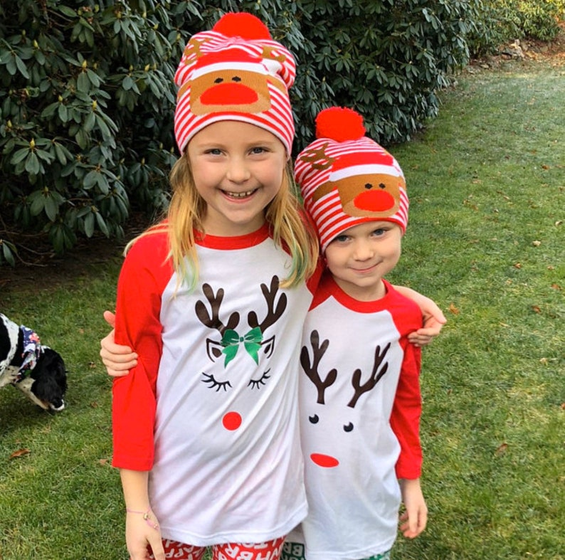 Rudolph the Red Nose ReindeerFamily Christmas matching shirtsMatching Family Christmas ShirtsRaglan Family ShirtFamily Reindeer Shirts