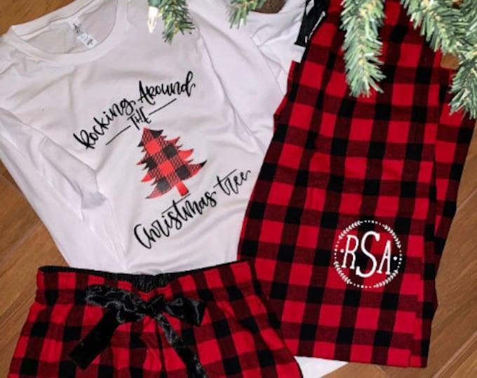 Christmas family shirts, Buffalo Plaid,Christmas Eve family shirts,Rocking Around Xmas tree, Gift ideas, Merry Christmas Filthy Animal