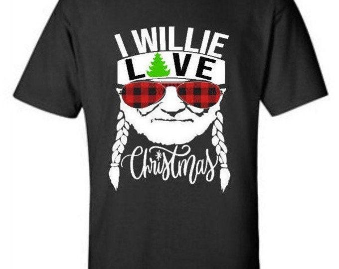 Willie Love Christmas, I Willie Love Christmas, Christmas tshirt, Christmas gift, Merry Christmas tee, Happy Holidays tshirt, buffalo plaid