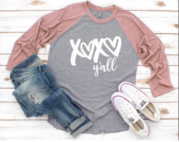 Xoxo Y'all/New trending 2021/Valentine Shirt/Valentines Day/Love Shirt/Cute Valentine Shirt gift idea/Xoxo/Be Mine/Gifts for her