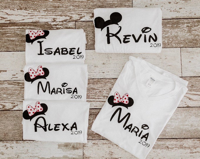 Disney family Vacation shirts, Personalized Disney vacay shirts, matching family T-shirt's, Disney Family Shirts, Mickey shirt, Disney gifts