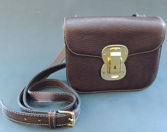 Jil Sander vintage Brown Crossbody/Clutch Box Purse with detachable and adjustable Strap