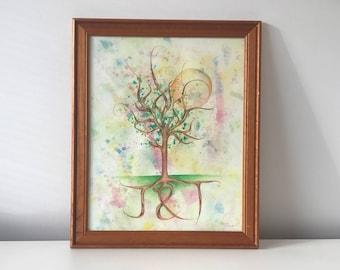 Custom Tree Artwork with Initials
