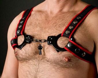 Nylon Harness with Handcuff