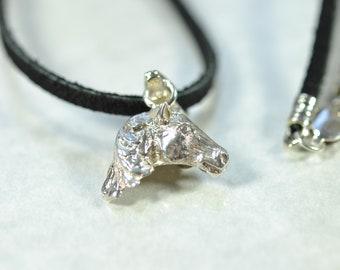 Clear Quartz Sterling silver 3 mm Suede Necklace