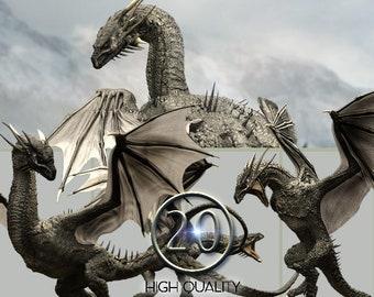 f51d346d3 20 PNG, Black Dragon, Dragon clipart,