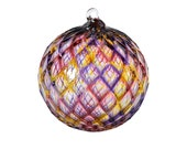 Tate's Favorite Ornament - Hand Blown Glass Ornament - Sun Catcher - Gazing Ball - Color Glass Ornaments - Pineapple Ornaments