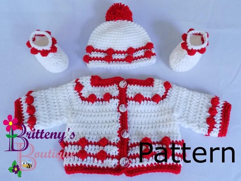 392170e0d Baby Boy Sweater Crochet Pattern Baby Sweater Crochet Pattern
