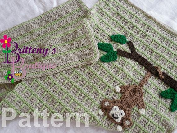 Monkey Blanket Crochet Pattern Baby Monkey Blanket Crochet | Etsy