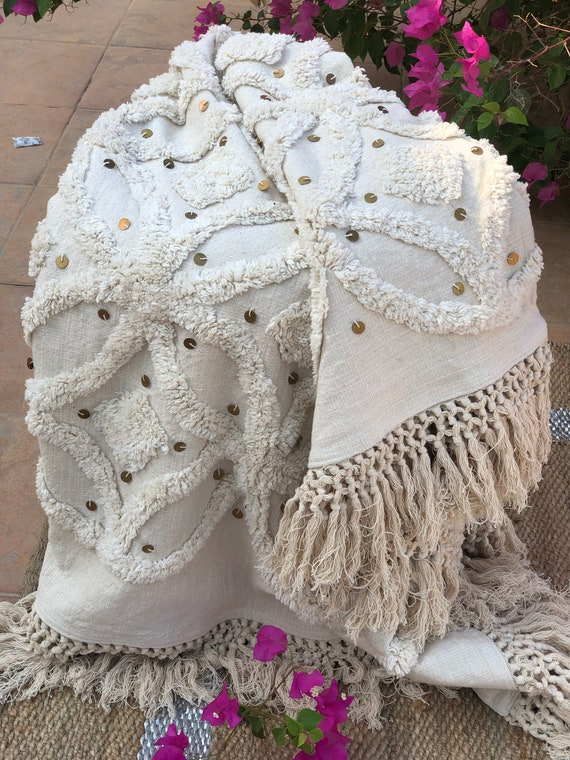 Surprising Moroccan Wedding Throw Blanket Couch Cover Bed Throw Handwoven Cotton Throw Ornate Throws Sofa Throw Boho Throw Blanket Sofa Cover Gmtry Best Dining Table And Chair Ideas Images Gmtryco