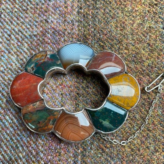 Antique Victorian 'Scottish Agate' Brooch